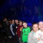 OK Aquarium Bull Shark Tank—Seventh grade students from Porum pose in front of the Bull Shark Tank at the OK Aquarium; Left to right: Luke Spradlin, Bella Mutart, Bryson Armstrong, Hailee Goodner, Jordan Anderson, Joey Colbert, Simon Girty, Brayden Stinnett, Jace Shipley, Ashlynn Anderson and Emma Murray