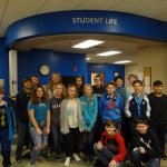 TCC Building 9—Porum GEAR UP 7th grade students tour Building 9 and learn about the Student Life opportunities to get involved; Front row: Eric Chapin, Jordan Carter, Ashlynn Anderson, Jett Henson and Simon Girty  Middle row: Blake Catron, Hailey Goodner, Krystina Anderson, Craig Hood, Joey Colbert and Jordan Anderson  Back row: Kevin Barnes, Emery Arnold, Emery James, Bryson Armstrong, Brayden Catron and Houstin Barnes