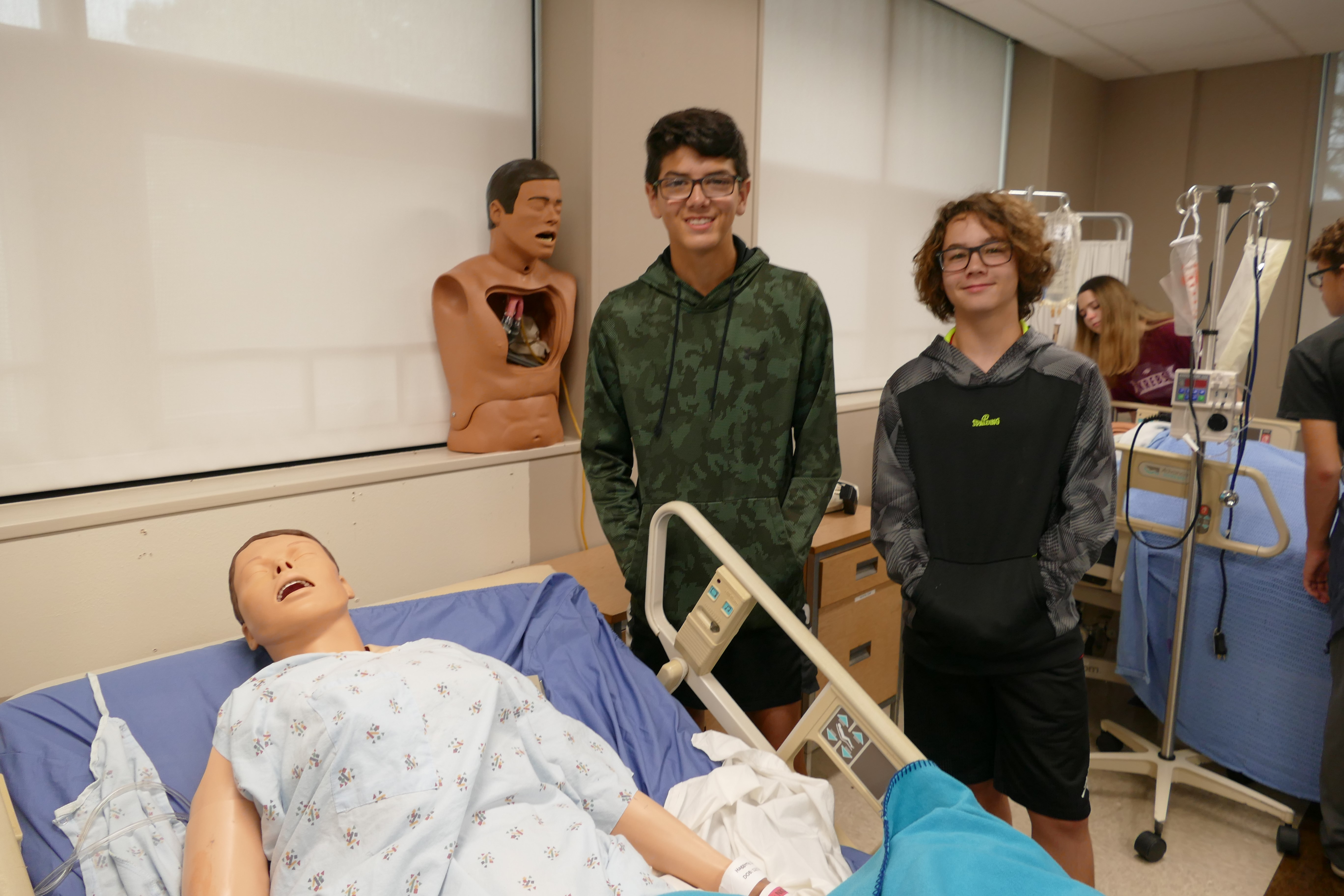 Krebs eighth grade students tour Eastern Oklahoma State